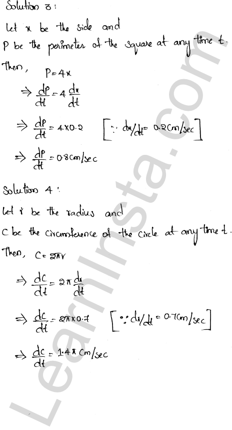 RD Sharma Class 12 Solutions Derivative as a Rate Measurer Chapter 13 Ex 13.2 2