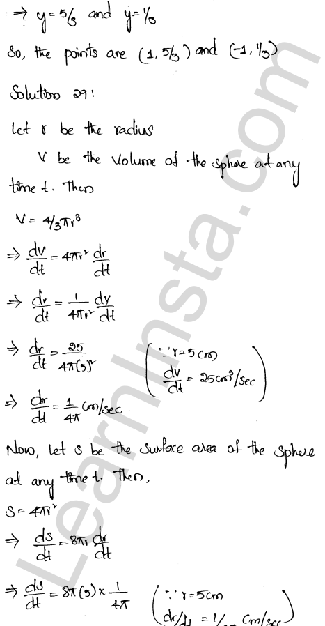 Class 12 RD Sharma solutions chapter 13 Derivative as a Rate Measurer Ex 13.2 20