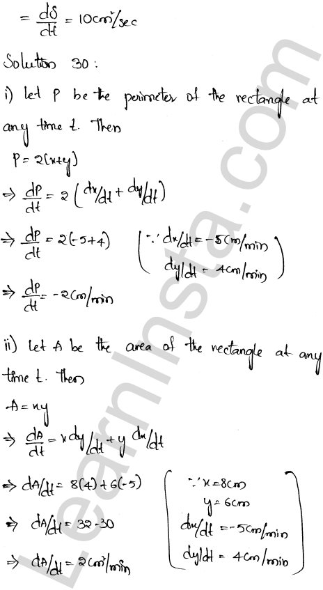 Class 12 RD Sharma maths solutions chapter 13 Derivative as a Rate Measurer Ex 13.2 21