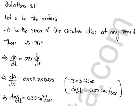 Class 12 RD Sharma maths solutions chapter 13 Derivative as a Rate Measurer Ex 13.2 22