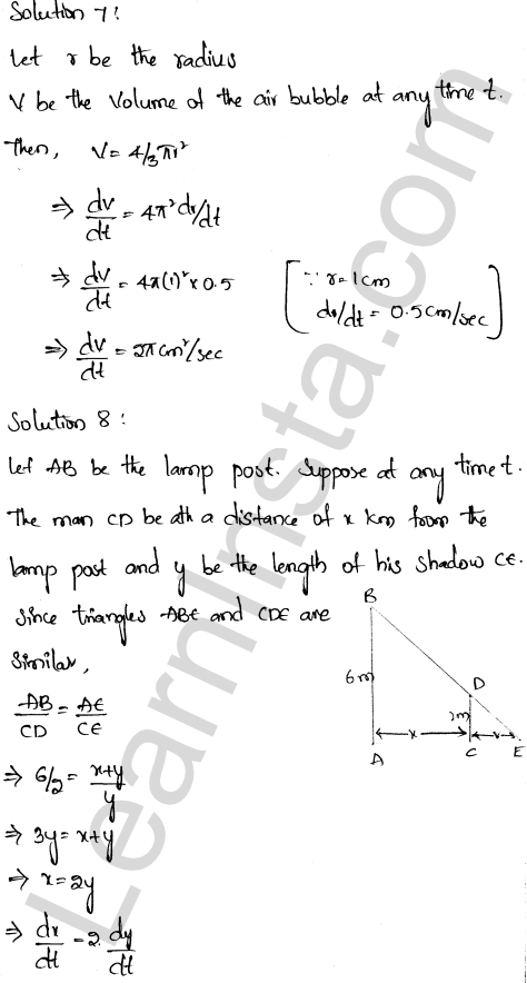RD Sharma Class 12 Maths Solutions Chapter 13 Derivative as a Rate Measurer Ex 13.2 4