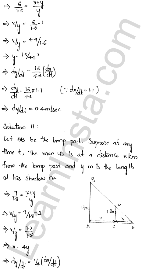 Class 12 RD Sharma solutions chapter 13 Derivative as a Rate Measurer Ex 13.2 6