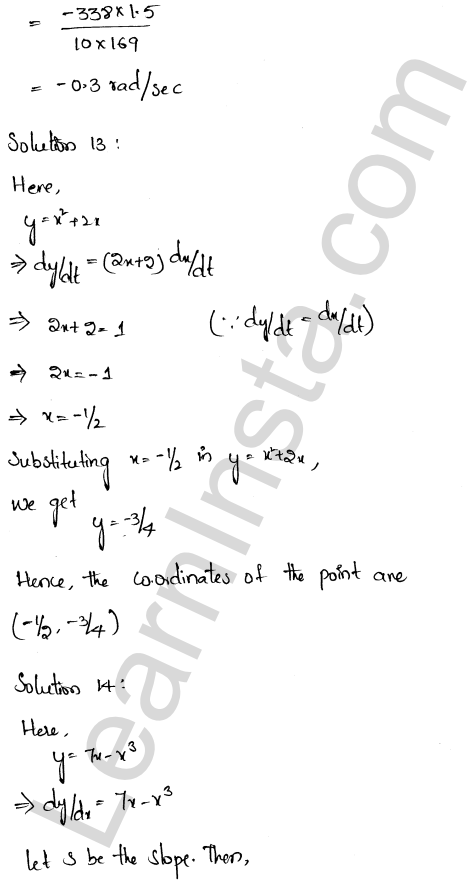 RD Sharma Class 12 Solutions Chapter 13 Derivative as a Rate Measurer Ex 13.2 8