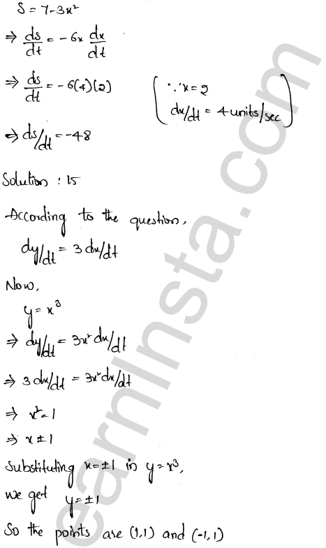 RD Sharma Class 12 Solutions Derivative as a Rate Measurer Chapter 13 Ex 13.2 9