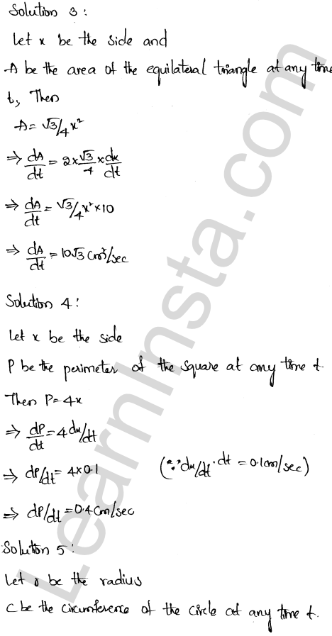 RD Sharma Class 12 Solutions Derivative as a Rate Measurer Chapter 13 VSAQ 2