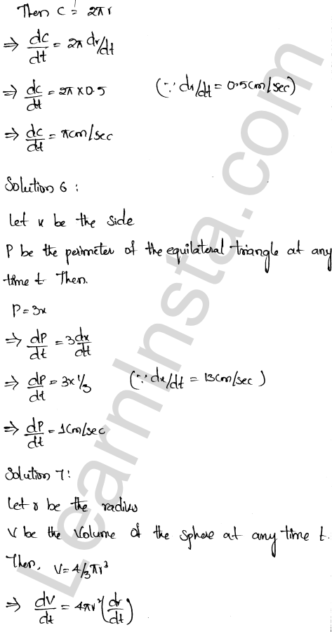 RD Sharma Solutions Class 12 Derivative as a Rate Measurer Chapter 13 VSAQ 3