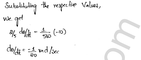 Class 12 RD Sharma solutions chapter 13 Derivative as a Rate Measurer VSAQ 6