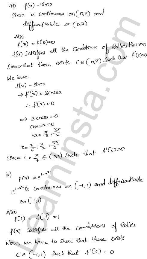 RD Sharma Class 12 Maths Solutions Chapter 15 Mean Value Theorems Ex 15.1 14