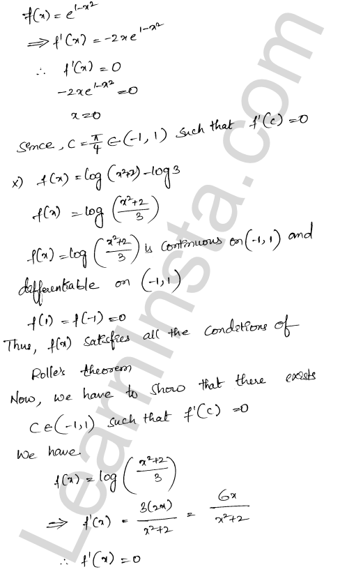 RD Sharma Class 12 Maths Solutions Chapter 15 Mean Value Theorems Ex 15.1 15