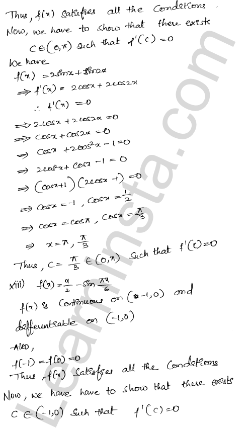 RD Sharma Class 12 Maths Solutions Chapter 15 Mean Value Theorems Ex 15.1 17