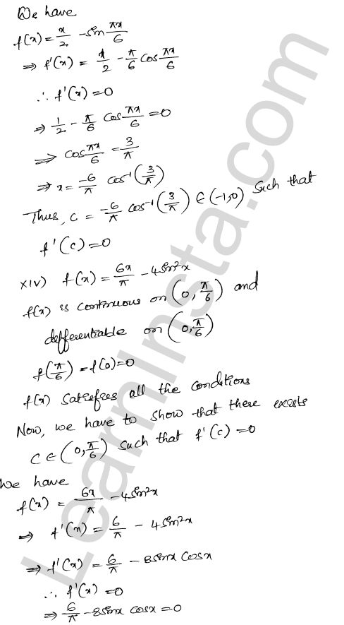 RD Sharma Class 12 Maths Solutions Chapter 15 Mean Value Theorems Ex 15.1 18