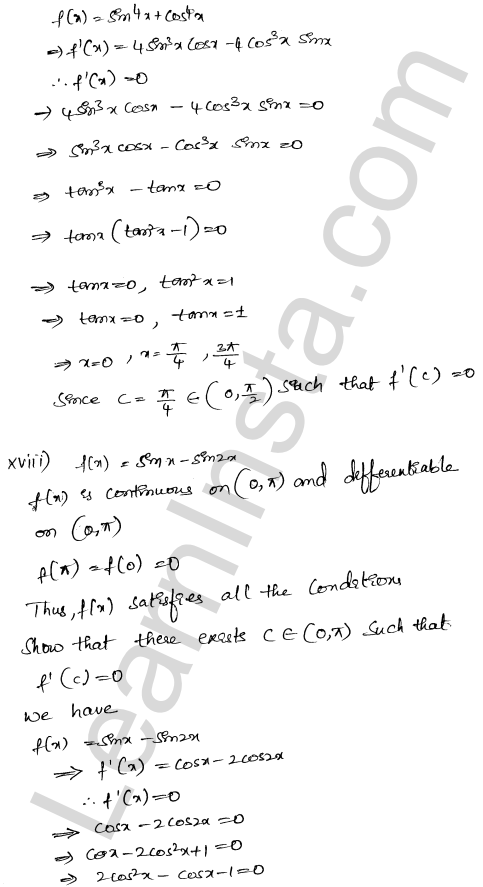 Solution of RD Sharma class 12 chapter 15 Mean Value Theorems Ex 15.1 21