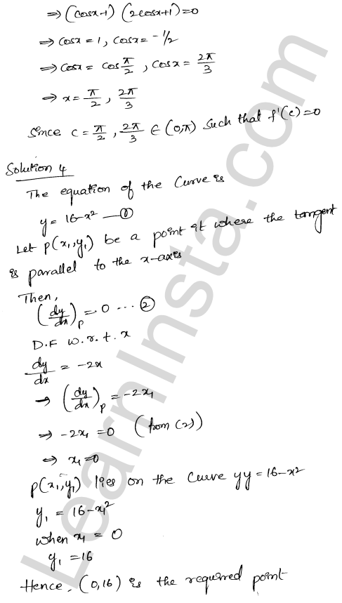 Solution of RD Sharma class 12 chapter 15 Mean Value Theorems Ex 15.1 22
