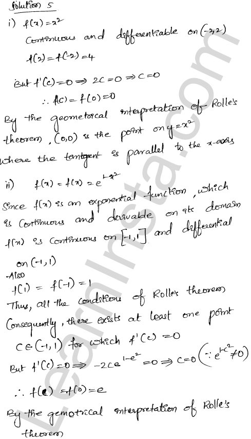 Solution of RD Sharma class 12 chapter 15 Mean Value Theorems Ex 15.1 23