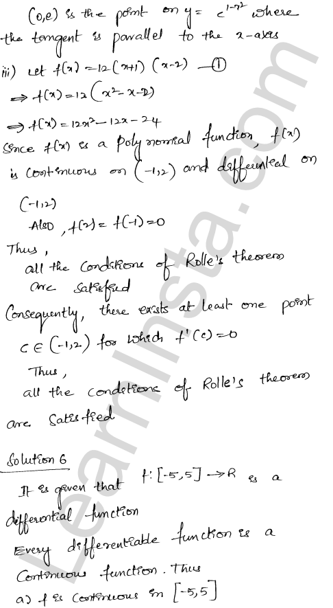 Class 12 RD Sharma solutions chapter 15 Mean Value Theorems Ex 15.1 24