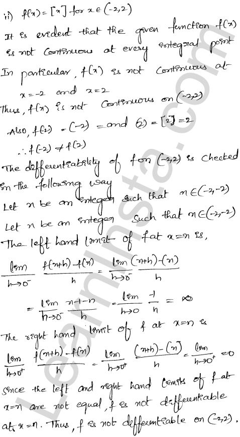 Class 12 RD Sharma solutions chapter 15 Mean Value Theorems Ex 15.1 27
