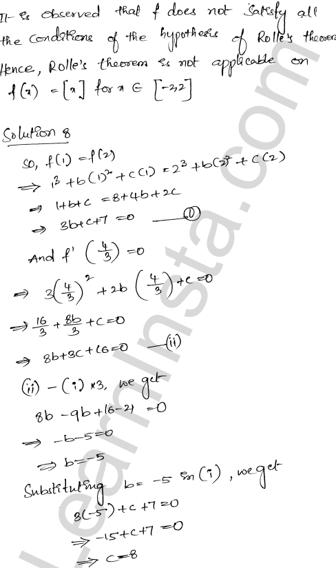 Class 12 RD Sharma maths solutions chapter 15 Mean Value Theorems Ex 15.1 28