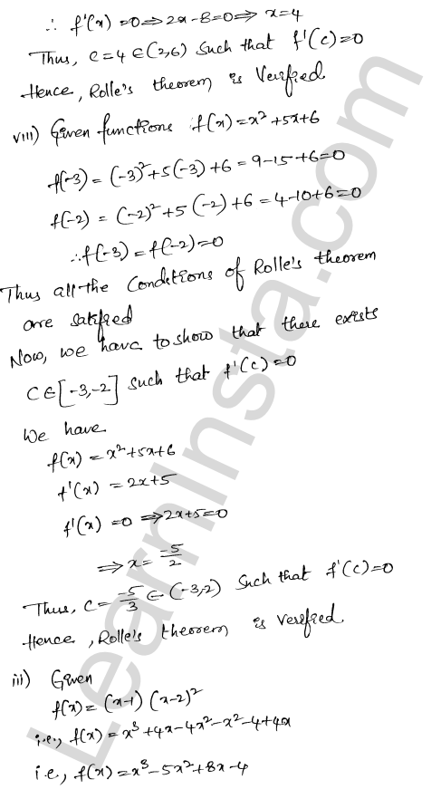 RD Sharma Class 12 Solutions Chapter 15 Mean Value Theorems Ex 15.1 4