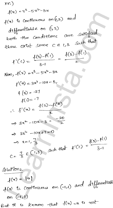 RD Sharma Class 12 Maths Solutions Chapter 15 Mean Value Theorems Ex 15.2 14