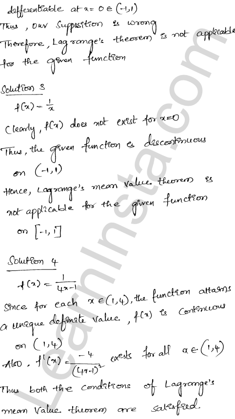 RD Sharma Class 12 Maths Solutions Chapter 15 Mean Value Theorems Ex 15.2 15