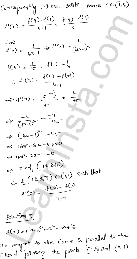 RD Sharma Class 12 Maths Solutions Chapter 15 Mean Value Theorems Ex 15.2 16
