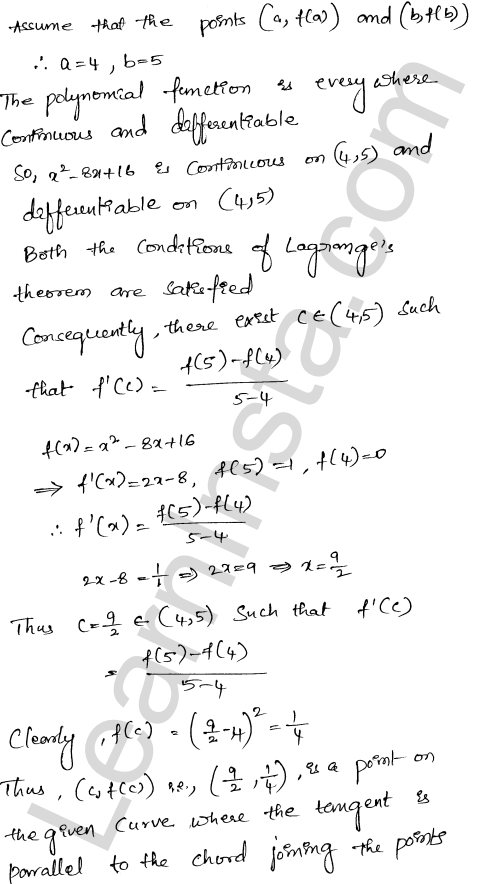 Solution of RD Sharma class 12 chapter 15 Mean Value Theorems Ex 15.2 17