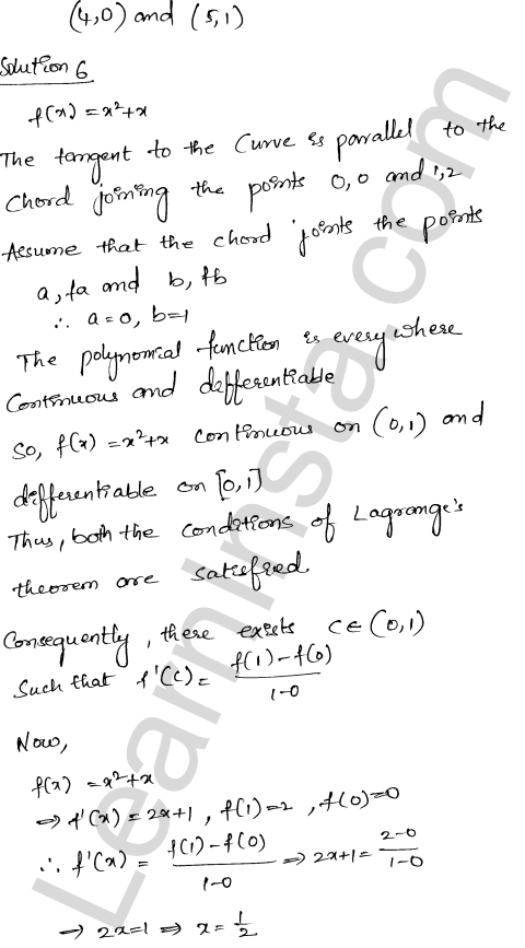 Solution of RD Sharma class 12 chapter 15 Mean Value Theorems Ex 15.2 18