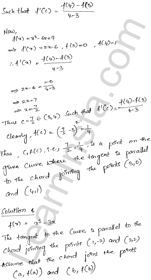 Solution of RD Sharma class 12 chapter 15 Mean Value Theorems Ex 15.2 20