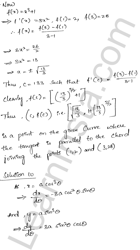 Class 12 RD Sharma solutions chapter 15 Mean Value Theorems Ex 15.2 23