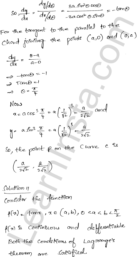 Class 12 RD Sharma solutions chapter 15 Mean Value Theorems Ex 15.2 24