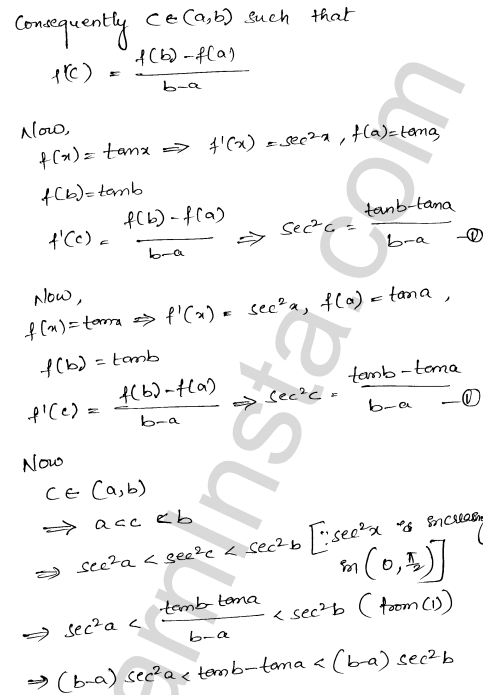Class 12 RD Sharma maths solutions chapter 15 Mean Value Theorems Ex 15.2 25
