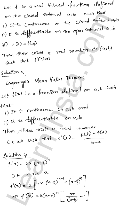 Class 12 RD Sharma maths solutions chapter 15 Mean Value Theorems Ex 15.2 26