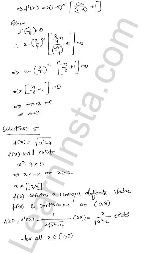 Class 12 RD Sharma maths solutions chapter 15 Mean Value Theorems Ex 15.2 27