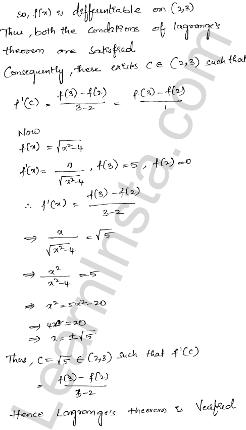 Class 12 RD Sharma maths solutions chapter 15 Mean Value Theorems Ex 15.2 28