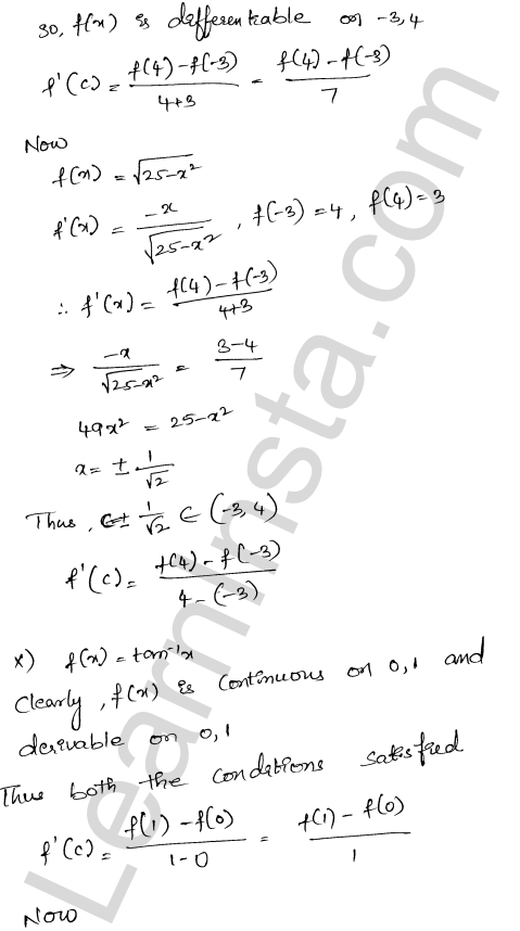 RD Sharma Class 12 Solutions Mean Value Theorems Chapter 15 Ex 15.2 8