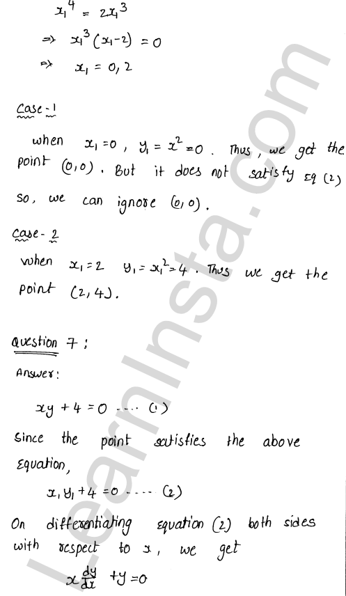 RD Sharma Solutions Class 12 Tangents and Normals Chapter 16 Ex 16.1 12