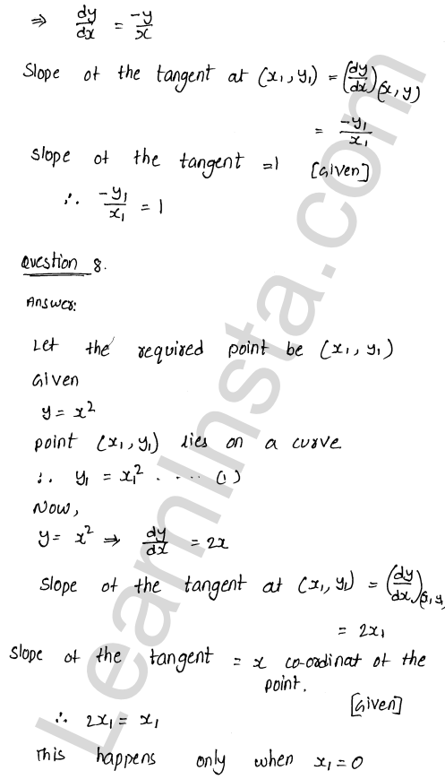 RD Sharma Class 12 Maths Solutions Chapter 16 Tangents and Normals Ex 16.1 13