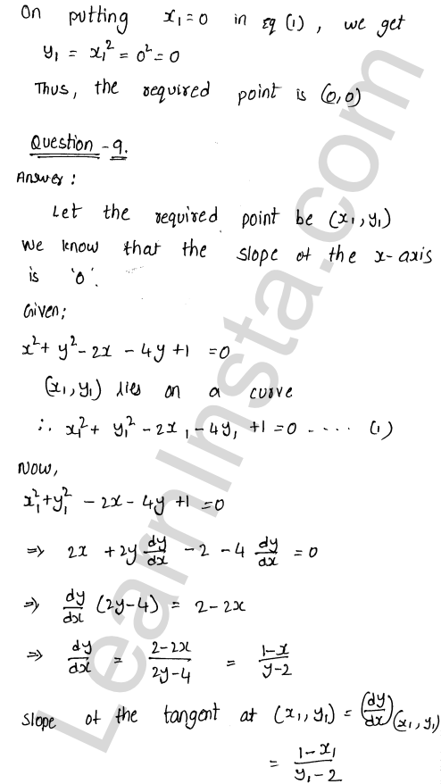 RD Sharma Class 12 Maths Solutions Chapter 16 Tangents and Normals Ex 16.1 14