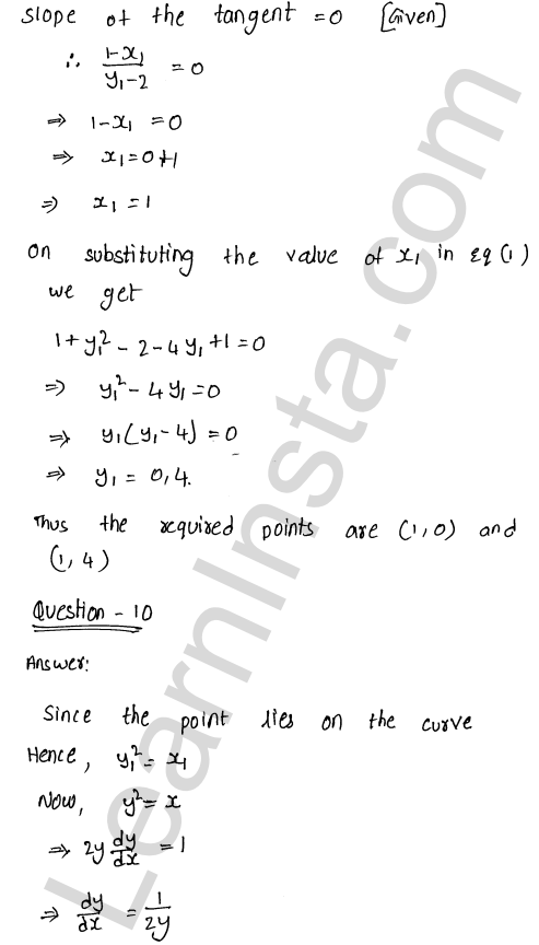 RD Sharma Class 12 Maths Solutions Chapter 16 Tangents and Normals Ex 16.1 15