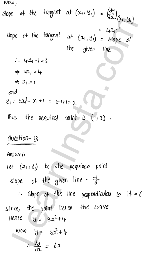 Solution of RD Sharma class 12 chapter 16 Tangents and Normals Ex 16.1 19