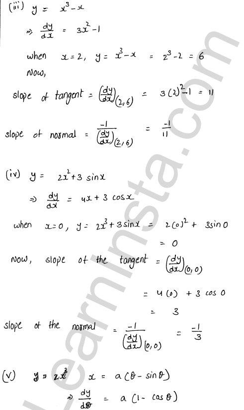 RD Sharma Class 12 Solutions Chapter 16 Tangents and Normals Ex 16.1 2