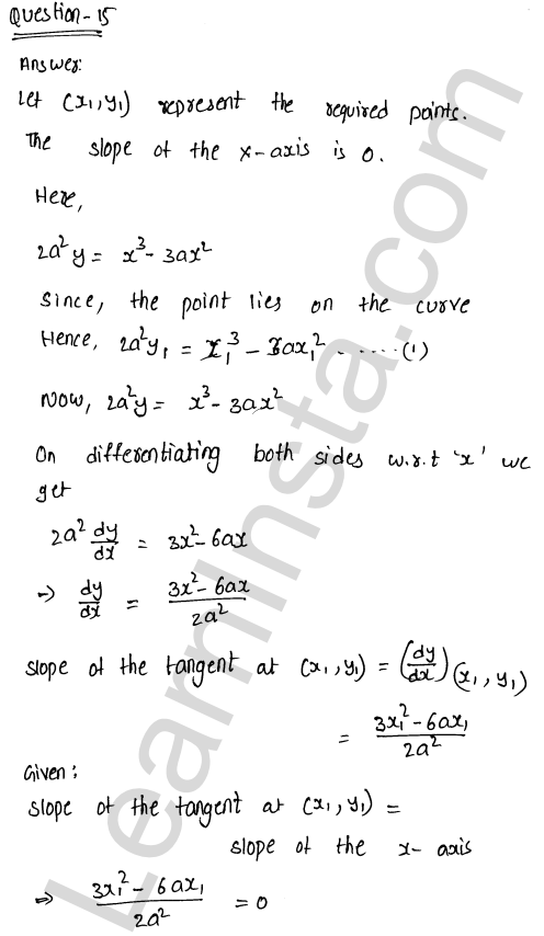 Class 12 RD Sharma solutions chapter 16 Tangents and Normals Ex 16.1 22