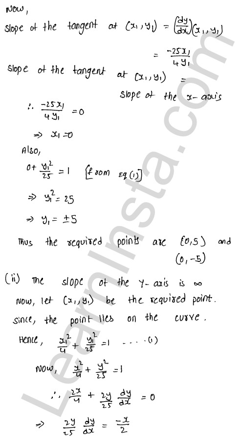 Class 12 RD Sharma maths solutions chapter 16 Tangents and Normals Ex 16.1 25