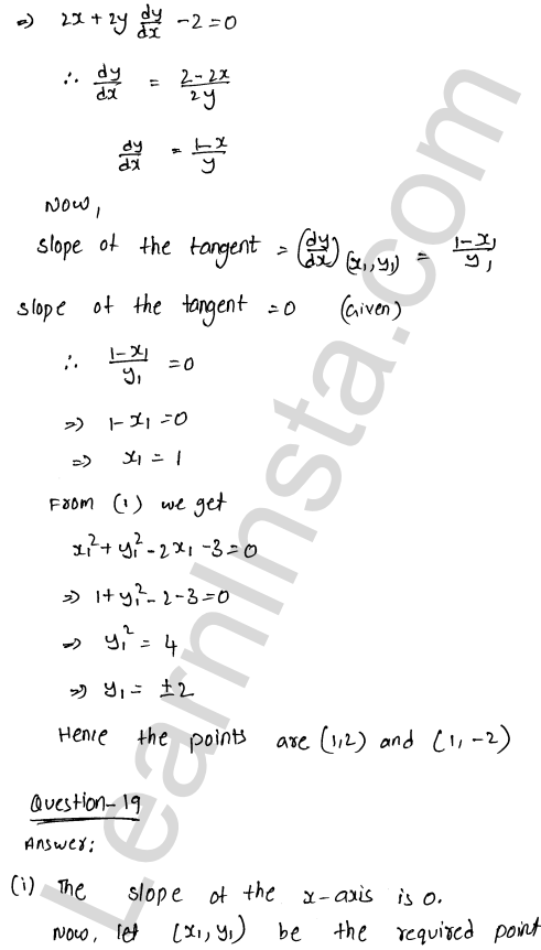 Class 12 RD Sharma maths solutions chapter 16 Tangents and Normals Ex 16.1 27