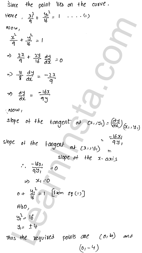 Class 12 RD Sharma maths solutions chapter 16 Tangents and Normals Ex 16.1 28