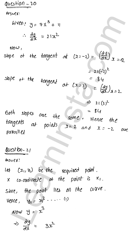 RD Sharma Class 12 Solutions Tangents and Normals Chapter 16 Ex 16.1 30