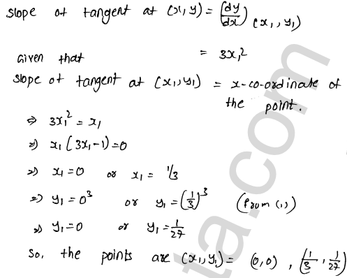 RD Sharma Solutions Class 12 Tangents and Normals Chapter 16 Ex 16.1 31
