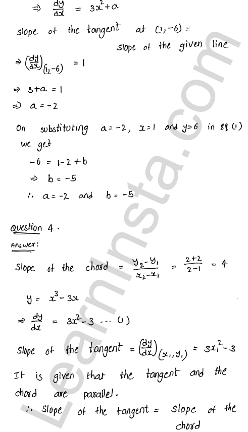 RD Sharma Class 12 Solutions Tangents and Normals Chapter 16 Ex 16.1 8