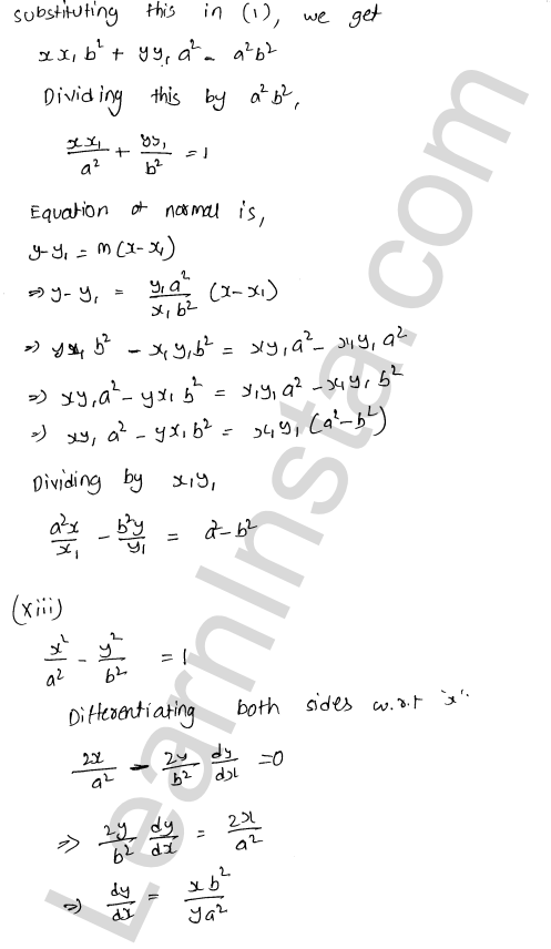 RD Sharma Solutions Class 12 Tangents and Normals Chapter 16 Ex 16.2 15