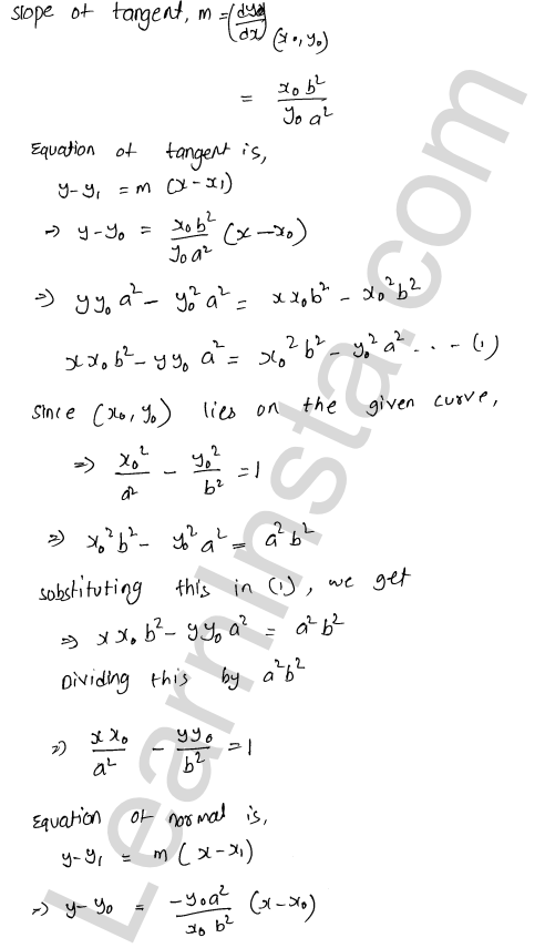 RD Sharma Class 12 Maths Solutions Chapter 16 Tangents and Normals Ex 16.2 16